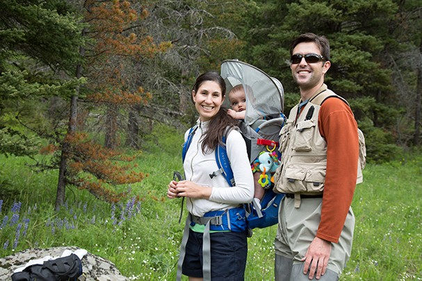 Dr. Gabriel McCormick family hiking